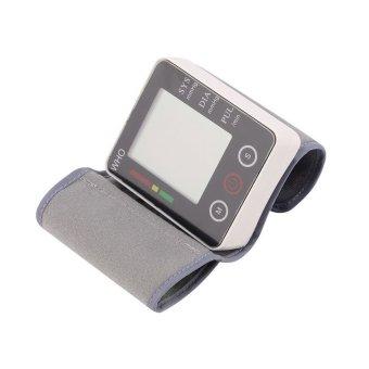 Digital Automatic cuff touch Wrist Blood Pressure Monitor watch Precision Medical Sphygmomanometer Meter (Intl)