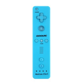 Remote Controller Built-in Motionplus Silicone Case Wristlet for Wii Blue (Intl)