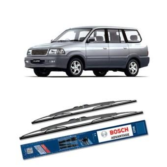 Bosch Sepasang Wiper Kaca Mobil Toyota Kijang Kapsul 1996-2004 Advantage 20 & 19 - 2 Buah/Set - Hitam
