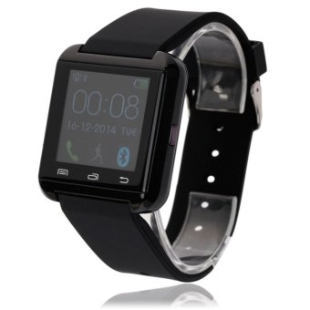 Original U-WATCH U8-PLUS Bluetooth Smart Watch (Support iOS and Android) Black