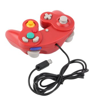 CHEER 1pc New Game Controller Pad Joystick for Nintendo GameCube or for Wii Red - Intl