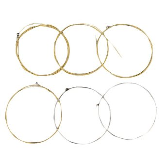 A Set of 6 Metal Steel Strings for Acoustic Guitar E A D G h(b) and e string 1m (Intl)