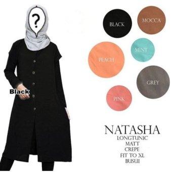 Natasha Long Tunic Warna Black