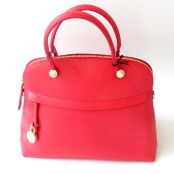 Furla Dome Piper Medium Satchel (Ruby)