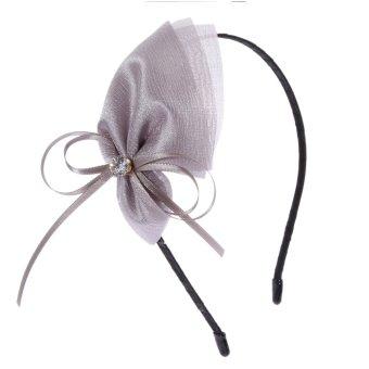 Eozy Korean Summer Fine Flower Headband Floral Casual Head Band Crystal Dating Women Girl Lady Hair Clip(Grey) - Intl