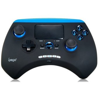 Ipega Bluetooth Game Controller with TouchPad for Smartphone and Tablet - PG-9028 - Hitam/Biru