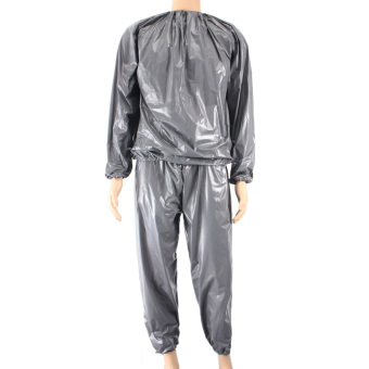 Fitness Loss Weight Sweat Suit Sauna Suit Exercise Gym Size L Grey (Intl)