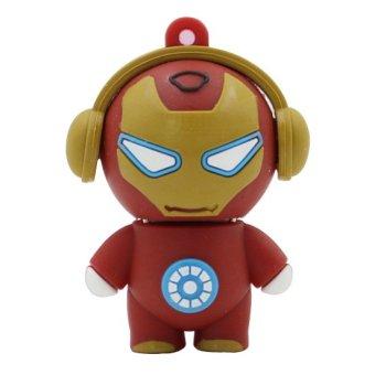 Cartoon Iron Man 32GB USB 2.0 USB Flash Drives Storage Drive Memory Stick(Red) (Intl)