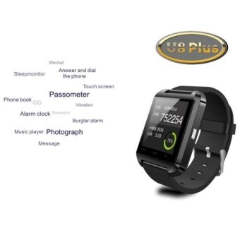 U8 Plus 1.44 Inch Capacitive Touch Screen Bluetooth V4.0 Smart U Watch, Support Pedometer / Sleep Monitoring / Remote Capture / Receive the call / Anti-lost(Red) - Intl