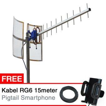 Antena Yagi Penguat Sinyal HP BOLT IVO V5 Powerphone 4G Yagi TXR 185 + Gratis Docking Pigtail