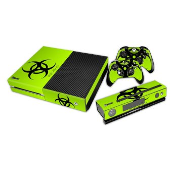 Biohazard Design Cover Skin Sticker Protector Case for Xbox One Console Controller(INTL)