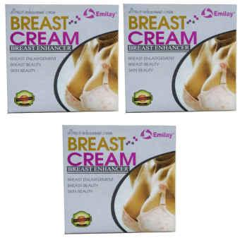 Emilay Breast Enhancement USA Cream Pembesar Payudara Jadikan Montok, Sexy, Padat Dan Sintal - 3 Paket