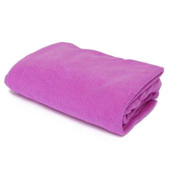 New Microfiber Absorbent Towel Car Clean Drying Cloth Washcloth 70x140cm Purple - Intl