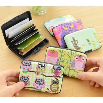harga BUYINCOINS Fashion Women Owl Wallet ID Credit Business Card Purse Case Cute Pocket Holder Lazada.co.id