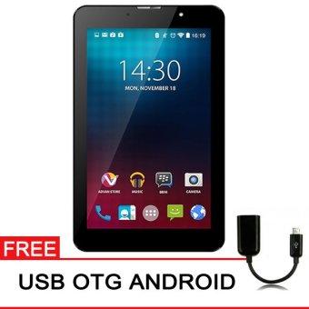 Advan Vandroid i7 4G LTE - 8GB - Hitam + Gratis USB OTG