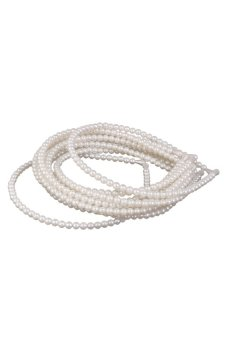 S & F Phenovo Fake Pearls Beads Headband Jewelry Hair Band 10Pcs White