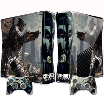 Black Cool Game Skin Sticker For Xbox 360 Slim Console + Controller Vinyl Decal (Intl)