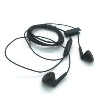 BlackBerry Earphone / Headset / Handsfree Stereo Z10 With Control Talk - Hitam