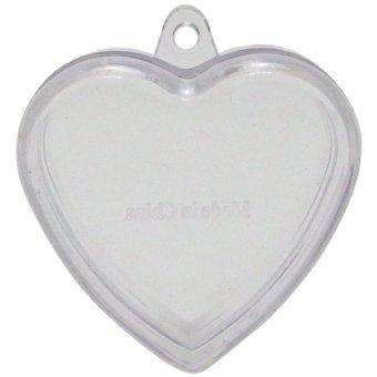 TOPFASHION 10 pcs Clear Storage Beads Finding Jar Heart Shape Mini Container 3 gr (HT1-K) (Intl)