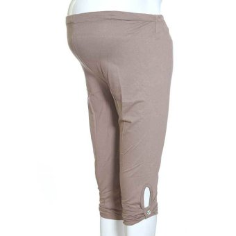 Mama Hamil Butik Legging Hamil 3/4 Permata CLL09 F2 - Krem