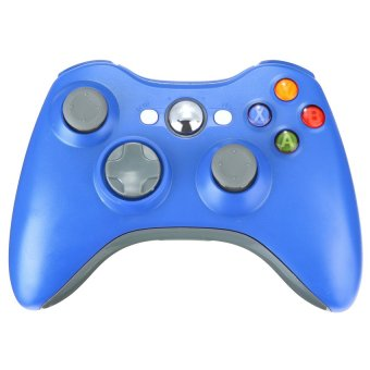 S & F Wireless Game Remote Controller for Xbox 360 + Receiver (Blue) - Intl
