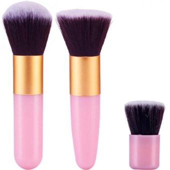 11Pcs Makeup Eyeshadow Foundation Brushes(Pink+Gold) (Intl)