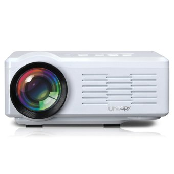 UHAPPY U35 HD Home Theater LED Mini Projector with SD/HDMI/VGA/AV/USB White