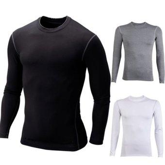 Happycat 2016 Fashion Men's Long Sleeve O-Neck Casual T-Shirt Sweatshirt Tops Shirt