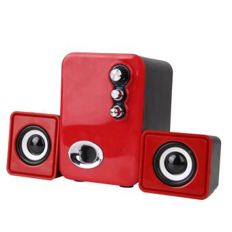 3D Sound 2.1 CH PC Computer Speaker with Dual Subwoofer Laptop Desktop - intl