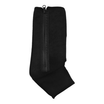 S & F Ankle Support Sleeve Shield Zip Up Compression Support Black - Intl