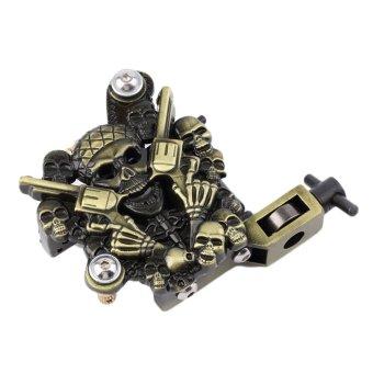 UINN Empaistic Skull Tattoo Machine Gun for Liner & Shader Dual 10 Wrap Coils Set - Intl