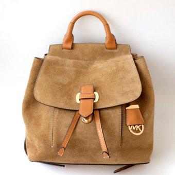 Michael Kors Romy Suede Leather Medium Backpack (Desert)