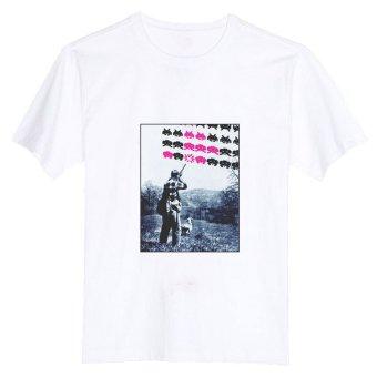 Shooting Space Invaders ALIEN 100% Cotton O Neck Camiseta Unisex Short Sleeve T Shirt (Intl)