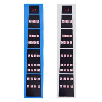 2Pcs 4/4 Fiddle Fingerboard Sticker (Intl)