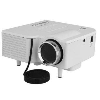 Generic Mini Portable LED Projector Cinema Theater PC Laptop HDMI AV/VGA/USB/SD White (Intl)
