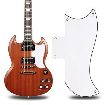 HAOFEI Scratch Plate PickGuard Gibson SG Style Electric Guitars (White) - INTL