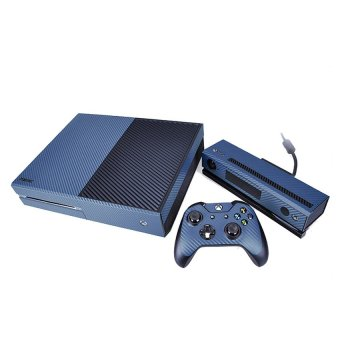 S & F 3D Carbon Fibre Sticker Skin Cover Decal Protector Wrap for XBOX ONE (Blue) - Intl