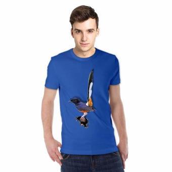 harga NSClothing Kaos 3D Burung Murai Batu Biru Benhur - Biru Benhur Lazada.co.id