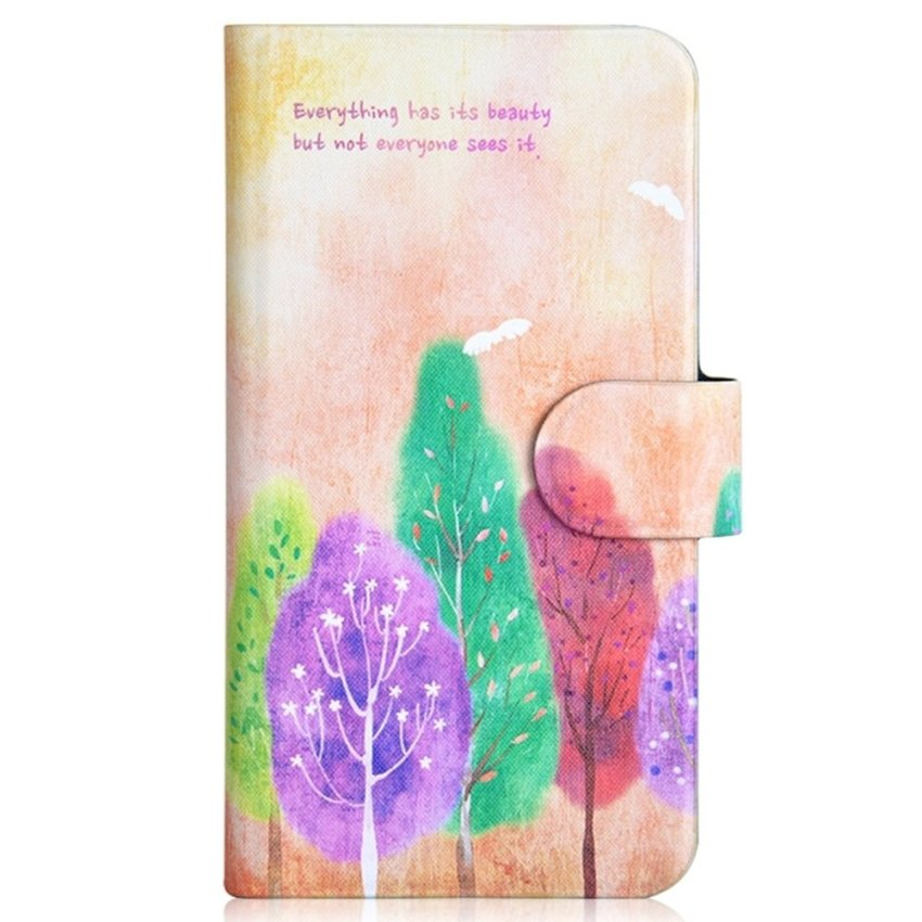 Colorful Tree Summer Style Design Card Slot Magnetic PU Leather Flip Case Cover Compatible For SONY Xperia S LT26i Xperia SL LT26II