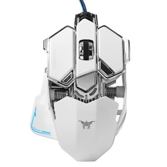 4800DPI 10 Buttons Breathing RGB LED Optical USB Wired Gaming Mouse (White) TH249 - Intl