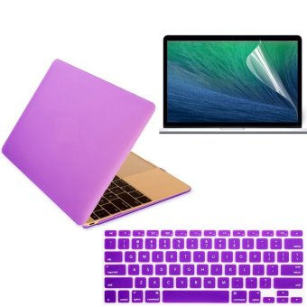 11.6 inch for Apple Macbook Air 11.6 Laptop computer purple matte protective shell Laptop Protective Case and keyboard film and Screen protection film 3 in 1 (Intl)