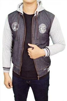 Gudang Fashion - Jaket Jeans Fleece - Abu Tua