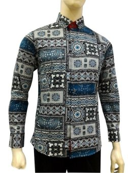 harga Herman Batik A9310 Baju Kemeja Batik Slimfit Fashion Pria Jeans Muslim Koko Lazada.co.id