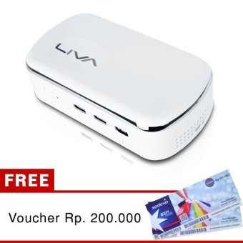 ECS Elitegroup 1 Day 1 Liva Mini PC Liva X2 - 2GB RAM - Intel - no OS + Gratis Voucher Rp. 200.000