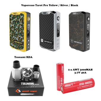 harga Electronic Cigarrettes Vape Kit - Vaporesso Tarot Pro + Tsunami RDA + Batt AWT 18650 3000 mAH Lazada.co.id
