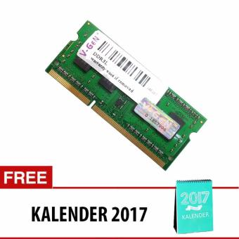 V-GEN DDR3 SO-DIMM Unbuffered 204pin (Low Voltage) [4GB PC-10600/1333 Mhz] + Free Kalender