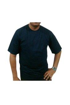 Bursa Kaos Polos - Kaos Polos Big Size Lengan Pendek - 4L - Biru Navy