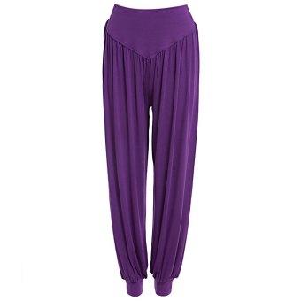 Women Causal Modal Dance Yoga Pants Trousers Baggy Jumpsuit - INTL