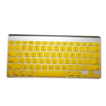 Soft Keyboard Silicone Skin Flim Cover Protector For Apple Macbook Pro 13 15 17inch Yellow- Intl