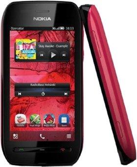 Nokia 603 - 2GB - Hitam Merah